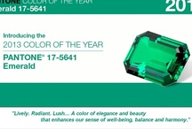 """Emerald 17-5641 Pantone 2013  Color of the Year / """"Lively. Radiant. Lush… A color of elegance and beauty                     that enhances our sense of well-being, balance and harmony."""""""