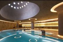 Rixos Thermal Spa and Hotel Eskisehir - Gokhan Avcioglu and GAD Architecture - Turkish Hammam / Located next to the picturesque forest hills in Eskişehir, the Spa & Thermal Hotel with its organic forms and natural materials is a design concept founded on simplicity, function and luxury. The circular plan of the resort encircles the core of the complex which consists of the spa and center of the building.