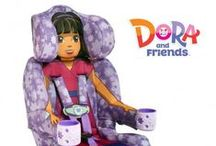 KidsEmbrace Dora & Friends / KidsEmbrace™ Friendship Combination Booster car seats are safe and offer something nobody else can – Friendship. Kids want to stay in this seat because KidsEmbrace™ has brought their favorite character to life. With KidsEmbrace™ Friendship seats, kids aren't just riding in a car seat; they're traveling with a friend. Kids agree; they even bring the seat in the house to be with their friend.