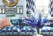 Blue and white / by Taylor Greenwalt Interiors