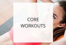 Core Workouts / Here you'll find workouts to strengthen and tone your stomach, sides, and lower back.  They also help develop and maintain good posture.