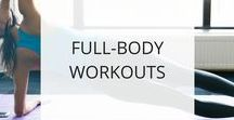 Full Body Workouts / These full body workouts are a great way to exercise efficiently because you're working your whole body in one workout, and you'll burn more calories because you're using all the major muscle groups, especially the large muscles of the lower body.