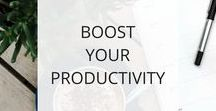 Productivity + Time Management for Solopreneurs + Side-Hustlers / If you're an entrepreneur, solopreneur, or you're growing a business on the side while working at your job, then you know how hard it can be to manage it all + keep yourself healthy and well. Productivity is a skill that can help you achieve your goals and design the life you love. Here you'll find tips for how to be more productive, efficient + effective, and how to manage your time and to-do list well.