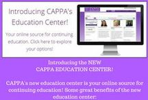 CAPPA and Continuing Education / CAPPA's is a leader in perinatal education. Get trained in person and go on to certification through through CAPPA's Online Academy OR if you need a Distance Learning Course enroll in the CAPPA Academy Distance Online Learning Courses. AND CAPPA provides you easy access to  maintain your certification through the CAPPA Education Center, where you'll find many opportunities for continued education credit hours.
