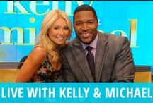 Live With Kelly Ripa & Michael Strahan / Live! with Kelly & Michael is always a fun way to get your morning started. Kelly Ripa has been co-hosting this lively daytime show since 2001, and former NFL star Michael Strahan joined her in 2012, following Regis Philbin's retirement the previous year. Each day, they discuss weird news during Host Chat, play a Travel Trivia game with the audience, and interview the hottest celebrity guests from movies, TV & sports. Get DIY advice, how to solutions, fashion reviews, gift guides, and much more! / by RECAPO