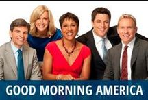 Good Morning America / People love waking up with the energetic and enthusiastic team from Good Morning America, which you can see daily on ABC. The cast includes George Stephanopoulos, beloved cancer survivor Robin Roberts, news anchor Josh Elliott, pop culture diva Lara Spencer, and the newest addition, weather anchor Ginger Zee. They fill you in on the day's Pop News and what's climbing the Heat Index, as well as featuring interviews and performances from chefs, movie stars, and musicians. Do you wake up with GMA? / by RECAPO