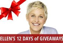 Ellen's 12 Days of Giveaways / Ellen's 12 Days of Giveaways has become a huge annual event for The Ellen DeGeneres Show. Each December, lucky audience members get to take home fabulous and expensive prizes that will make you jealous as you finish making your Christmas wish list. Get gift ideas, find out what you can win at home, and see the hilarious ways that Ellen keeps coming up with to surprise her audience for Ellen's 12 Days of Giveaways. Giving never goes out of style, but getting great gifts is nice sometimes too! / by RECAPO