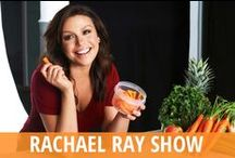 Rachael Ray Show / Rachael Ray is the spunky and talented daytime TV hostess who runs a bright and beautiful kitchen every weekday. You might also know her from Food Network, her Rachael Ray cookbooks, and the Every Day with Rachael Ray magazine. Join her in the kitchen to learn great recipes from her and celebrity friends or guests like Bobby Flay, Regis Philbin, and many more. In addition to Rachael Ray recipes, get advice from experts like designer Nate Berkus, style guru Gretta Monahan & organizer Peter Walsh. / by RECAPO