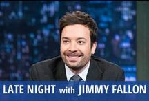 Late Night with Jimmy Fallon / Late Night with Jimmy Fallon is the after dark talk show that everyone is sharing on Facebook the next morning. Fallon's love of a good joke and penchant for '90s nostalgia (Saved by the Bell!) keep loyal  fans coming back for more. House band The Roots, led by Questlove, contributes to Slow Jammin' the News. Jimmy Fallon also features the latest tech reviews and performances by up and coming musicians. He plays classic party games with competitive celebrity guests like Justin Timberlake. / by RECAPO