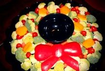 Healthy Trays, etc. / Healthy Fruit and Vegetable Trays that can be fun too!