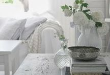 ❤ French Country ❤ / I have a love for white, taupe, wrought iron and rustic. The French Country look is one of my favourites.