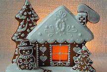 ♡ Gingerbread Houses ♡ / I LOVE gingerbread houses / by Lydias Treasures - Lisa