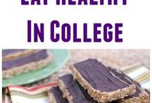 College Cooking / Budget friendly recipe ideas for college kids who don't have much to work with. Also tips on how to eat healthy while away at school!
