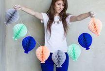 Gaga for Garlands / Easy DIY garlands, honeycomb garlands, paper garlands, party decorations