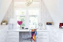 Home Office ~ Werkplaats / Office ideas and looks I love, office organization.