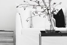 Black and White // Interior / Black and white scandinavian interio design