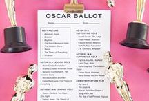 Oscar Party / Oscars, Academy Awards, awards ceremony, DIY viewing party ideas, printable Oscars ballot