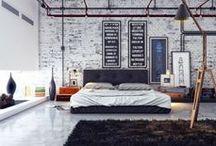Interior Decor / Industrial chic interior