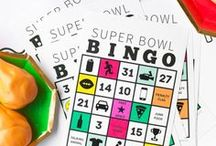 Game Time / Game day, sports party, Super Bowl bingo, Super Bowl party ideas