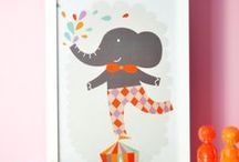ILLUSTRATIONS for kids / A collection of illustrations to decorate a kid's room or to use as a party ivitation