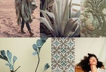 MOODBOARDS How to mix color and trends / All this is inspiration, style, mood, trends, colors, color palette, women's fashion, fabrics, textiles.  iAngelPhotography