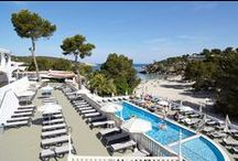 Marconfort El Greco Hotel Ibiza / 3 Stars Hotel in Portinatx (Ibiza) Perfect for family holidays, in front of the beach, all Inclusive board, with free Aquapark included. 242 recently renewed rooms. / by Marconfort Hotels & Apartments