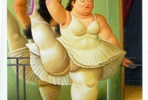 Artist and Sculpture - Fernando Botero (1932-) / Fernando Botero's distinctive style of smooth inflated shapes with unexpected shifts in scale is today instantly recognizable. The parameters of proportion in his world are innovative and almost always surprising. Appropriating themes from all of art history-- from the Middle Ages to the modern trends of the 20th century--Botero transforms them to his own particular style / by Terry Ivan
