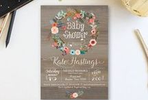 baby shower invitations / what would a baby shower be with out invitations?! a collection of the most adorable shower invitations