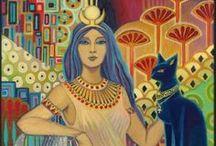 Mysteries/Deities/Elementals / From around the world.  / by Rita M.