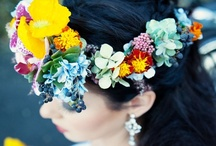 Crowning Glory - Enchanting Floral Head circlets / A Collection Of Floral Head Pieces that inspire us here at Wedding Flowers by Julia rose to create magical, relaxed and over the top Floral head pieces to enhance your big day!!