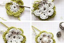 crochet charts / flowers, leaf, bracelet, necklace ecc