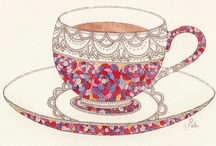 Tea time / Original art about tea  / by My Sketchbook Project by Sreetama
