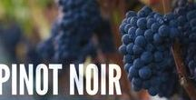 Pinot Noir / Pinot Noir is the world famous grape from Burgundy and more recently California and the Pacific Northwest. A light to medium-body wine, pegged as one of the most difficult to grow and make. Delicate and smooth with rich complexity, Pinot Noir is a versatile dinner companion.