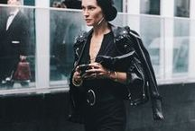 HOW TO WEAR LEATHER. / This board features outfit inspiration and ideas from street style featuring leather jackets, hats, bags, pants etc. CHRONICLES OF HER.