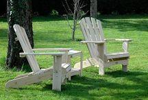 Adirondack Life Style / Style de mobilier Nord Américain, né au début du XXème siècle, on le retrouve dans tous les jardins et sur toutes les terrasses