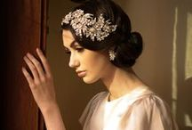 Great Gatsby Wedding Style / Uber talented Sonia Roselli handled hair and makeup brilliantly and was a master photographer as well (unless otherwise noted!) Accessories, headpieces and wedding jewelry from The Left Bank Jewelry & Bridal Finery www.LeftBankBridal.com