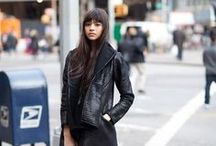 Rock 'n' Roll Glam / Street style, messy hair, all-black everything, and leather. / by Ann Taylor