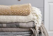 Textiles / add soft textiles to your home to create a nice and cosy feeling