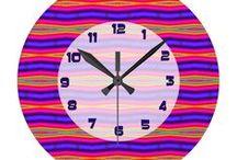 Colorful Clocks / Colorful Clocks. Bright fun artistic designs for your home decor