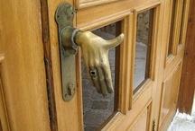 Open the door / door knobs and handles / by Sheila Ball