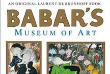 Babar's Museum of Art / As you read the book Babar's Museum of Art by Laurent De Brunhoff (http://amzn.to/1CqFdXw) to your children, show them the original artwork that was parodied by the author for a unique and fun art appreciation course. This board features those original pieces.  Each pin includes the page on which you'll find that piece in the book.