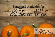 Halloween in the Music Room / Halloween ideas for the music classroom. Includes Halloween music playlists, Halloween music lessons, Halloween music activities, and Halloween music games.