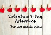 Valentine's Day in the music room / Songs, visuals, games, and more for Valentine's Day in the music room