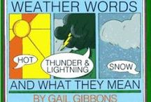 """Weather Words and What They Mean / Resources for the book, """"Weather Words and What They Mean"""" by Gail Gibbons. http://amzn.to/2cCHuOq"""