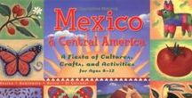"""Mexico & Central America / There seems to be a severe lack of materials available for teaching children about Mexico and Central American countries as they are today...their geography and culture. This board has resources I've found to use with the book """"Mexico & Central America: A Fiesta of Cultures, Crafts, and Activities for Ages 8-12"""" by Mary C. Turck (http://amzn.to/2ixUsPn). Using this book in my homeschool, we're making a notebook of the countries of the region."""
