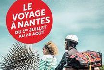 Le parcours du Voyage à Nantes / Le Voyage à Nantes c'est un parcours de 12 kilomètres au cours duquel vous découvrirez des oeuvres réalisées par de grands artistes d'aujourd'hui. Laissez-vous guider par la ligne verte, bonne balade :)