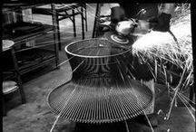 On the Factory Floor / Throughout our history the production of Knoll products has required the utmost care and precision, whether in shop or factory.