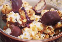 Popcorn / Popcorn is my go-to snack when I'm trying to think of something for a large crowd to snack on.  Add a few special ingredients and you have a wonderful snack for any occasion.