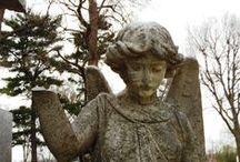 Silent Cities / Cemeteries, tombstones, tombstone art, famous people,
