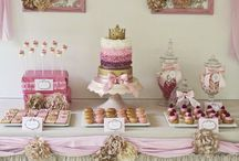 Pink and Gold Jewellery Making Birthday Parties / Pink and gold birthday party ideas.